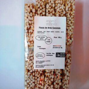 Flocos de Arroz Expandido Sabor Caramelo 100g