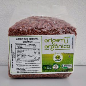 Arroz Rubi Integral Orgânico 500g